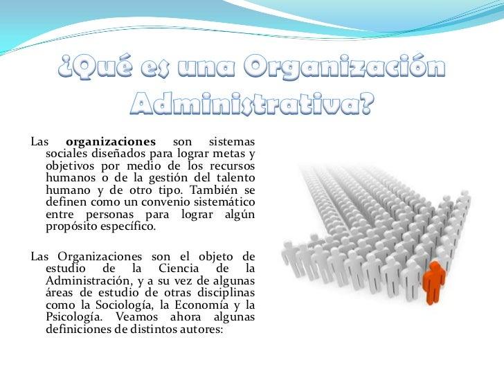 La organizaci n administrativa for Concepto de organizacion de oficina