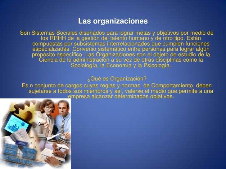 La organizacion Slide 2