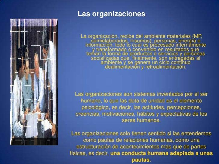 La organizacion Slide 3
