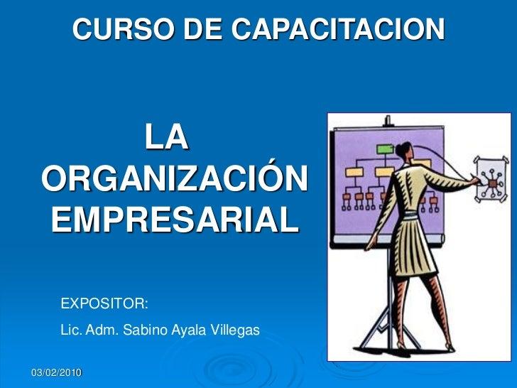 La Organizacion En Las Empresas Slide 2