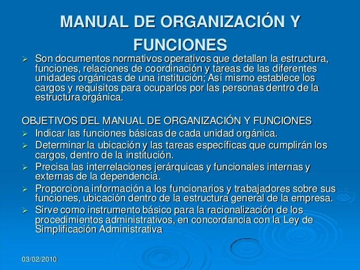 Manual de organizacion.