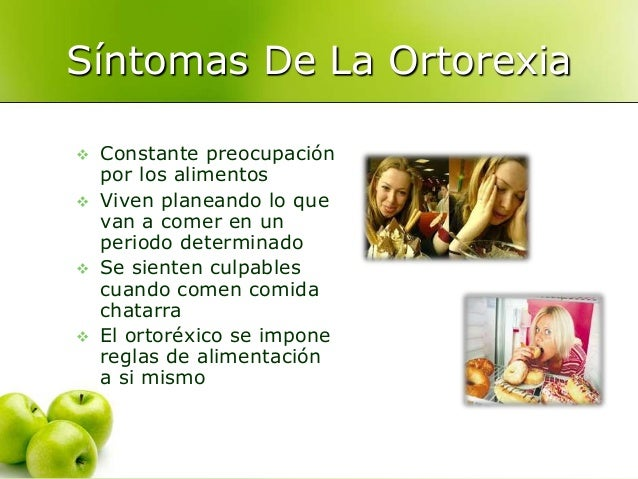 Resultado de imagen de ortorexia sintomas