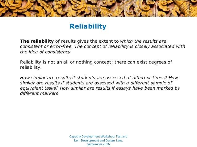 reliability essay Following essay, i have provided information about eyewitness' memory and also reliability of narrator essay research paper reliability womens studies essay research paper what is.