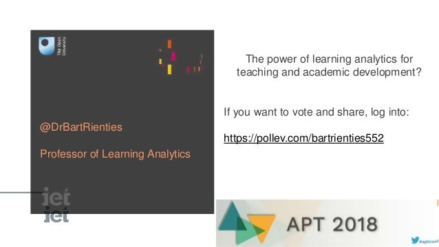 The power of learning analytics for teaching and academic development? If you want to vote and share, log into: https://po...