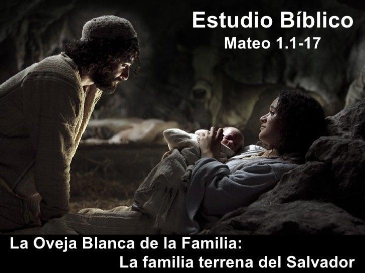 La Oveja Blanca de la Familia:  La familia terrena del Salvador Estudio Bíblico Mateo 1.1-17