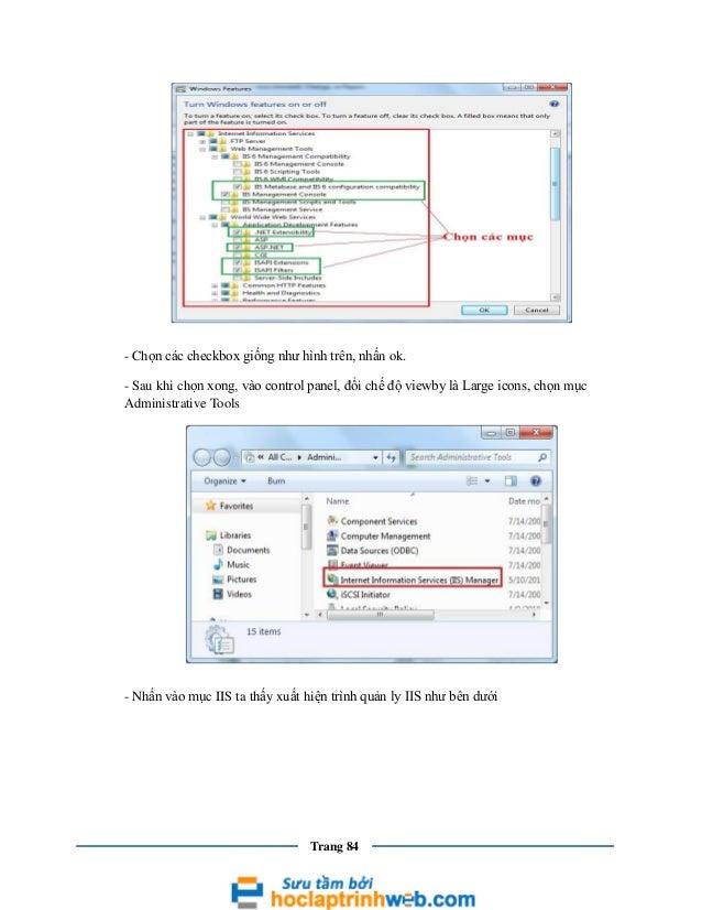 - Chọn các checkbox giống như hình trên, nhấn ok. - Sau khi chọn xong, vào control panel, đổi chế độ viewby là Large icons...