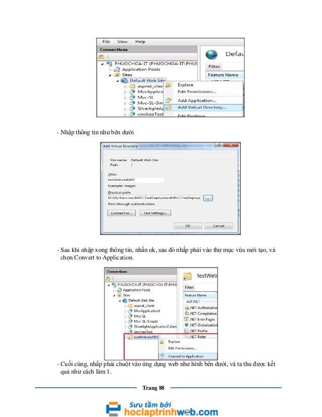 - Nhập thông tin như bên dưới  - Sau khi nhập xong thông tin, nhấn ok, sau đó nhấp phải vào thư mục vừa mới tạo, và chọn C...