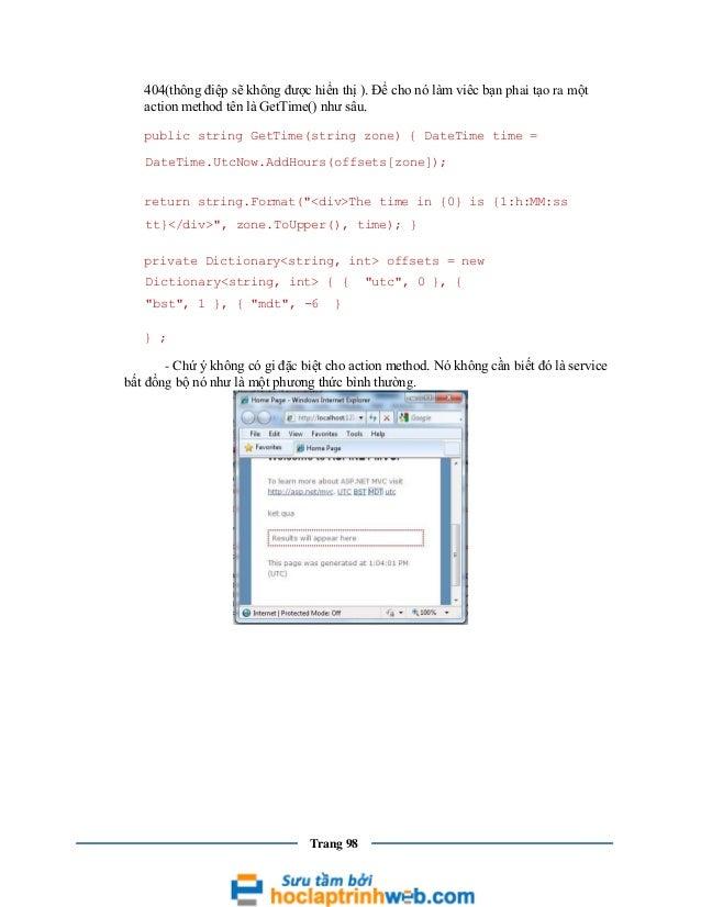 404(thông điệp sẽ không được hiển thị ). Để cho nó làm viêc bạn phai tạo ra một action method tên là GetTime() như sâu. pu...