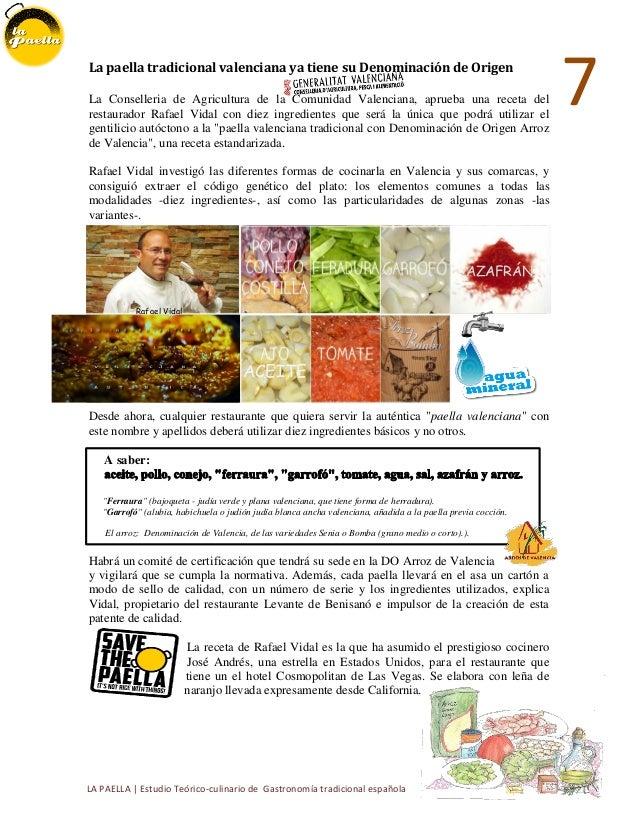 La paella breve estudio t cnico te rico culinario de una for Cocina tradicional definicion