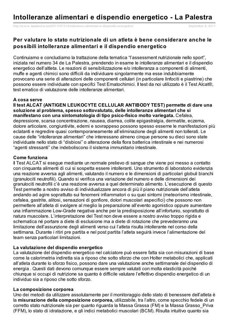 Intolleranze alimentari e dispendio energetico - La Palestrahttp://w w w .lapalestra.net/2011/07/31/intolleranze-alimentar...