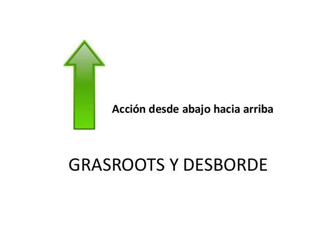grassroots (literalmente del inglés «raíces del césped», entendible como «de raíz», «auténtico» o «con base social») es un...