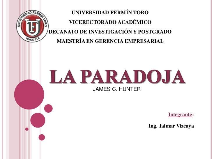 UNIVERSIDAD FERMÍN TORO <br />VICERECTORADO ACADÉMICO <br />DECANATO DE INVESTIGACIÓN Y POSTGRADO <br />MAESTRÍA EN GERENC...