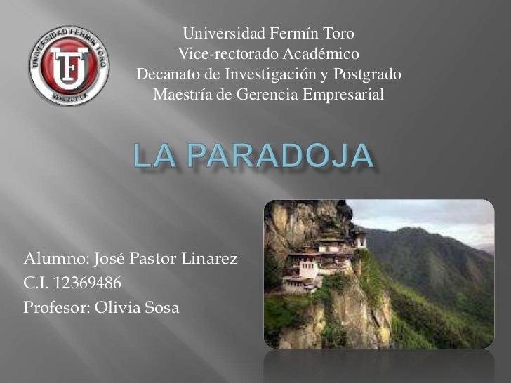 Universidad Fermín Toro                   Vice-rectorado Académico              Decanato de Investigación y Postgrado     ...