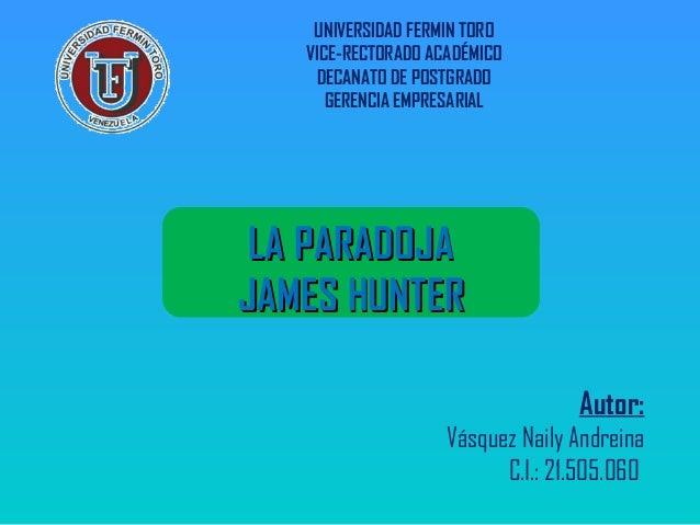 UNIVERSIDAD FERMIN TORO VICE-RECTORADO ACADÉMICO DECANATO DE POSTGRADO GERENCIA EMPRESARIAL Autor: Vásquez Naily Andreina ...