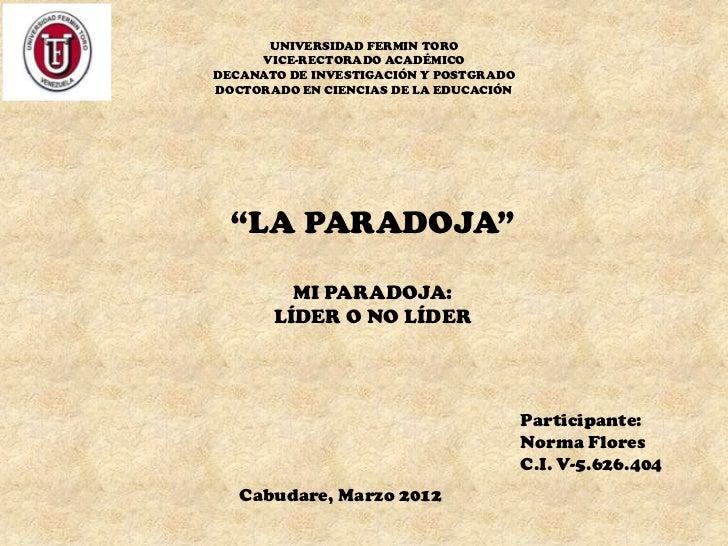 UNIVERSIDAD FERMIN TORO     VICE-RECTORADO ACADÉMICODECANATO DE INVESTIGACIÓN Y POSTGRADODOCTORADO EN CIENCIAS DE LA EDUCA...