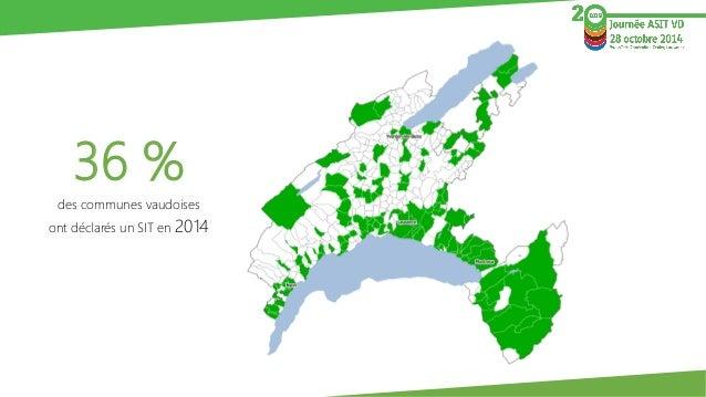 36 %  des communes vaudoises  ont déclarés un SIT en 2014