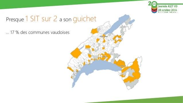 Presque 1 SIT sur 2 a son guichet  … 17 % des communes vaudoises