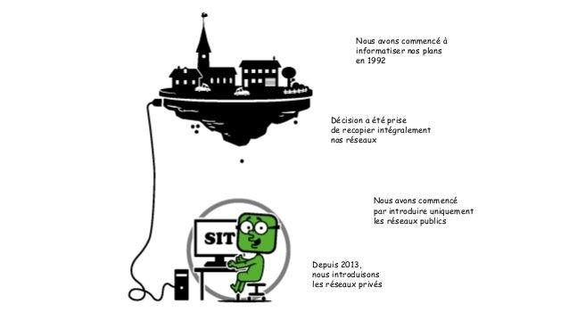 Nous avons commencé à  informatiser nos plans  en 1992  Décision a été prise  de recopier intégralement  nos réseaux  Nous...