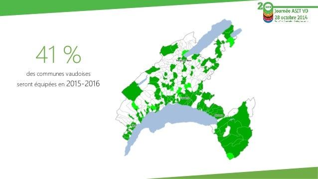 41 %  des communes vaudoises  seront équipées en 2015-2016