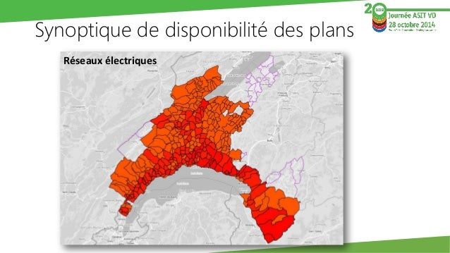 Synoptique de disponibilité des plans  Réseaux de gaz