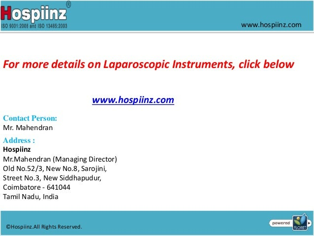 Laparoscopic equipment manufacturers in india