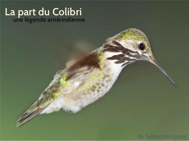 La part du Colibri une légende amérindienne de Sébastien Juras