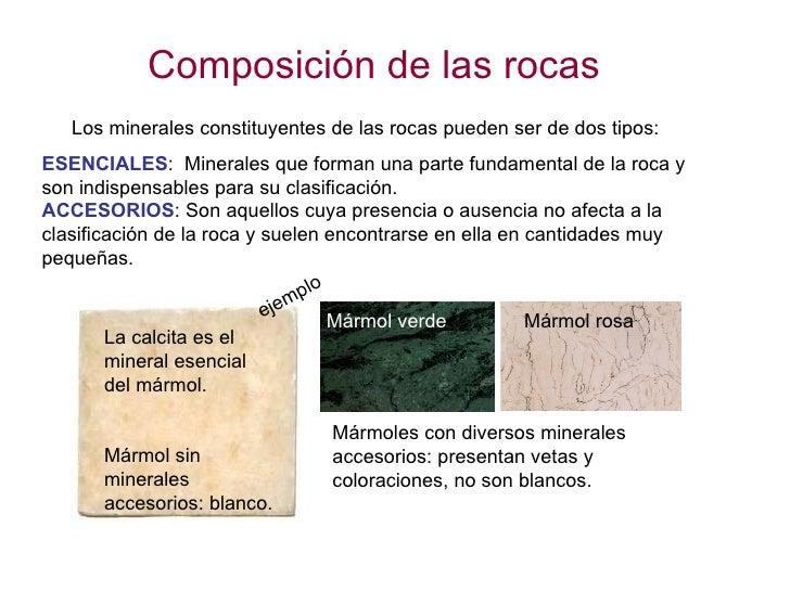La parte s lida de la tierra 8 las rocas for Marmol clasificacion