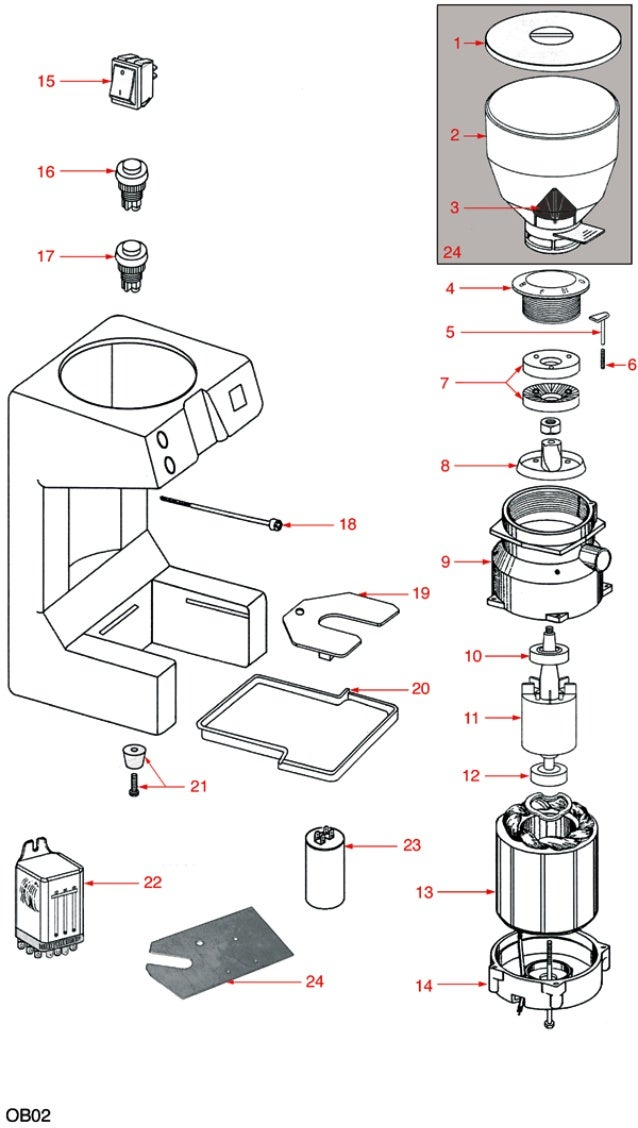 La Pavoni Parts Diagram also Ggmk6 besides Melitta Spare Grounds Container For Varianza Passione 6751784 likewise 1826 as well 1826. on jura coffee diagram