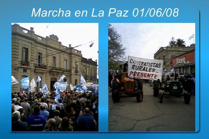Marcha en La Paz 01/06/08