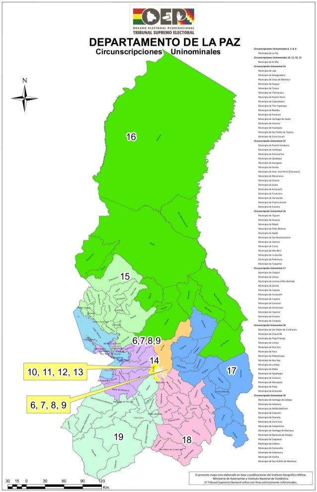La paz mapa-electoral
