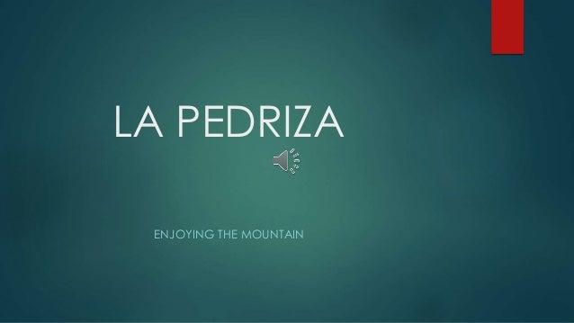 LA PEDRIZA ENJOYING THE MOUNTAIN
