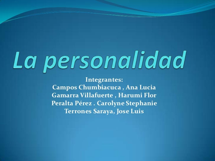 Integrantes:Campos Chumbiacuca , Ana LuciaGamarra Villafuerte , Harumi FlorPeralta Pérez . Carolyne Stephanie    Terrones ...