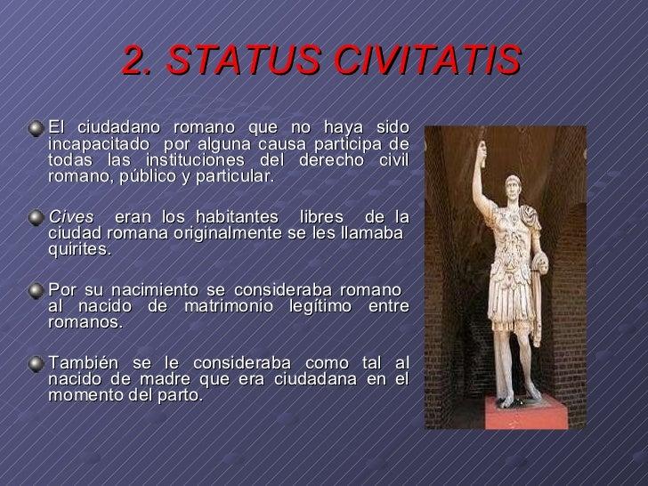 Matrimonio Derecho Romano Definicion : La persona en el derecho romano