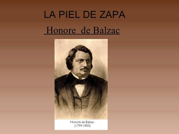LA PIEL DE ZAPAHonore de Balzac