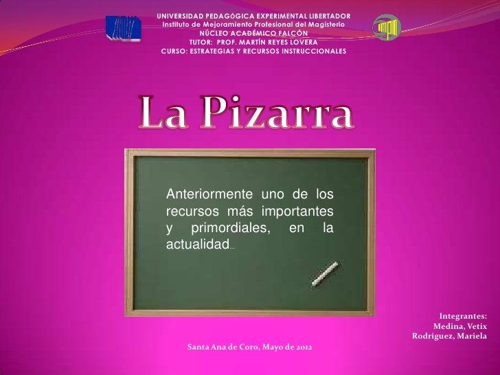 UNIVERSIDAD PEDAGÓGICA EXPERIMENTAL LIBERTADOR Instituto de Mejoramiento Profesional del Magisterio             NÚCLEO ACA...