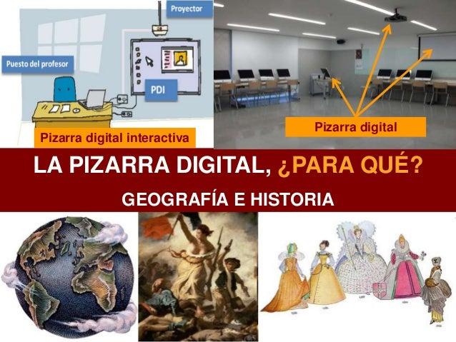 LA PIZARRA DIGITAL, ¿PARA QUÉ? GEOGRAFÍA E HISTORIA Pizarra digitalPizarra digital interactiva Pizarra digital