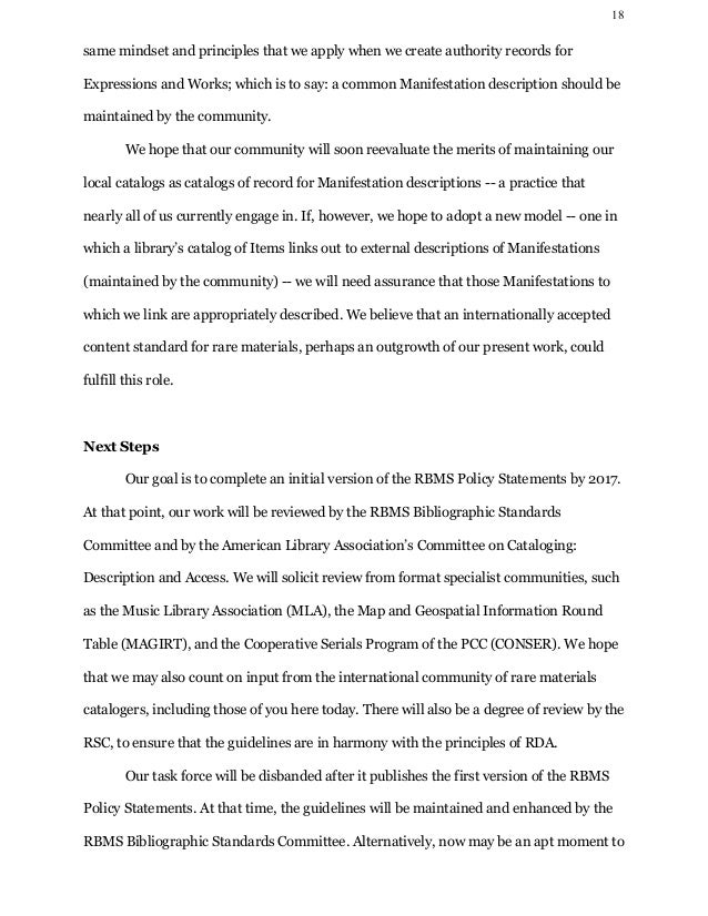 library description essay