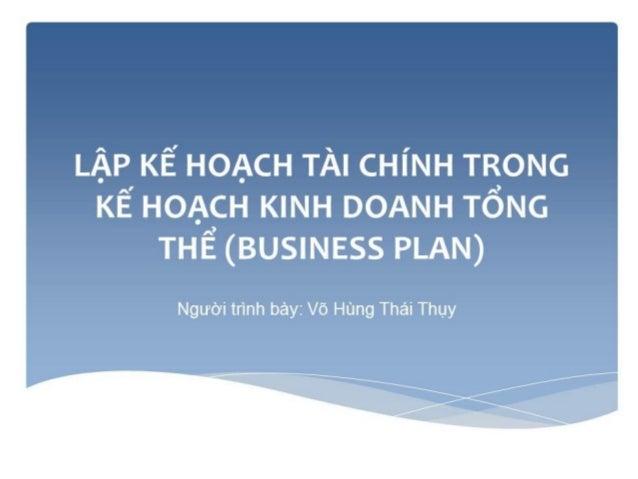 Kỹ thuật lập kế hoạch tài chính năm
