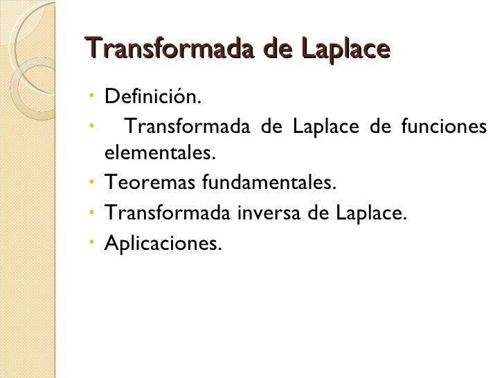 Transformada de Laplace Slide 2