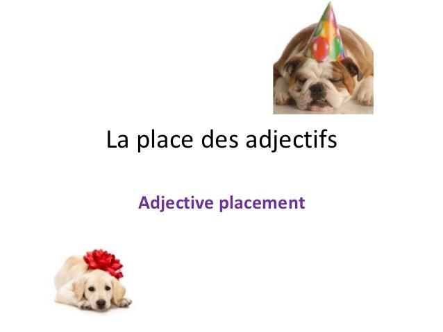 La place des adjectifs   Adjective placement