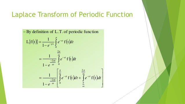 how to find laplace transform of periodic function