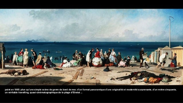 peint en 1865: plus qu'une simple scène de genre de bord de mer, d'un format panoramique d'une originalité et modernité su...