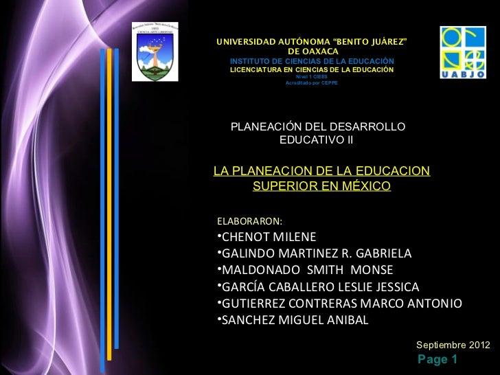 """UNIVERSIDAD AUTÓNOMA """"BENITO JUÁREZ""""              DE OAXACA  INSTITUTO DE CIENCIAS DE LA EDUCACIÓN  LICENCIATURA EN CIENCI..."""