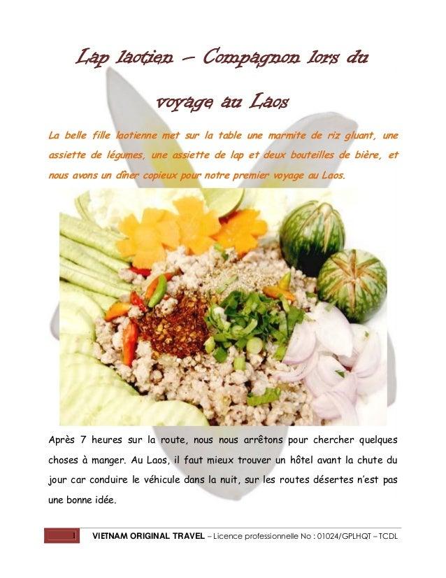 Lap laotien – Compagnon lors du voyage au Laos La belle fille laotienne met sur la table une marmite de riz gluant, une as...