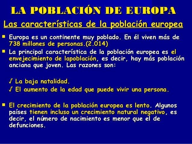 LA POBLACIÓN Y SECTORES ECONÓMICOS DE EUROPA Y ESPAÑA - 6º Primaria Slide 2