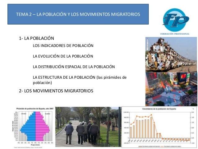 TEMA 2 – LA POBLACIÓN Y LOS MOVIMIENTOS MIGRATORIOS 1- LA POBLACIÓN LOS INDICADORES DE POBLACIÓN LA EVOLUCIÓN DE LA POBLAC...