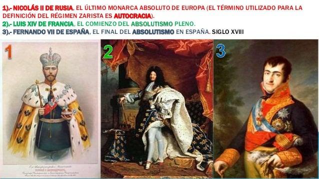 1).- NICOLÁS II DE RUSIA, EL ÚLTIMO MONARCA ABSOLUTO DE EUROPA (EL TÉRMINO UTILIZADO PARA LA  DEFINICIÓN DEL RÉGIMEN ZARIS...