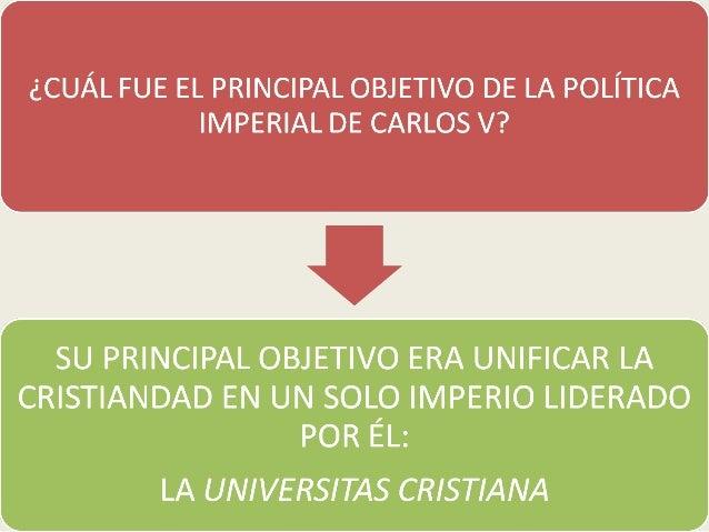 La política imperial de Carlos V Slide 2