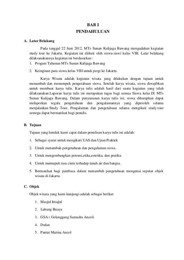 Karya Wisata Ke Jakarta