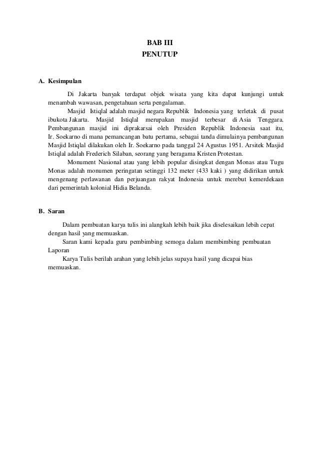 Contoh Kata Penutup Laporan Study Tour Kumpulan Contoh Laporan